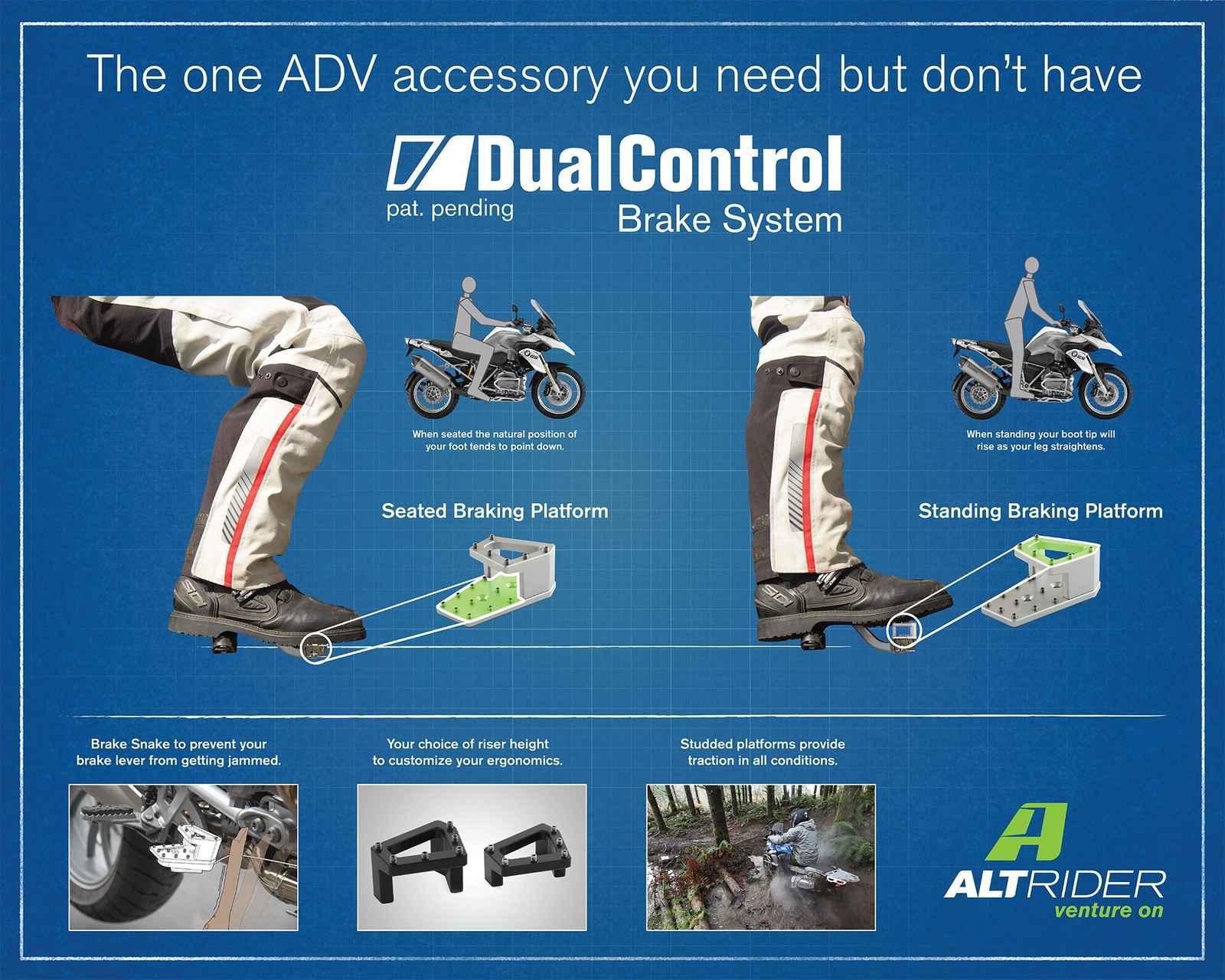 Extensión del pedal de freno DualControl de AltRider